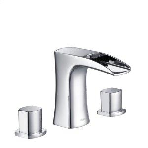 Stufurhome Cascade Bathroom Sink Faucet Set in Chrome Product Image