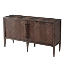 Burnet II Cabinet - Wood Parquetry