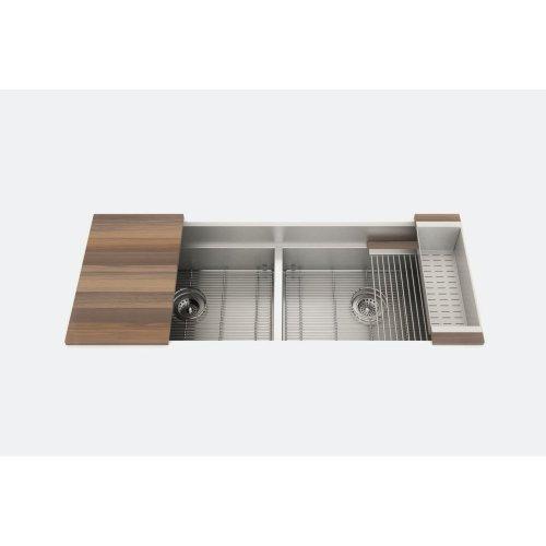 "SmartStation® 005457 - undermount stainless steel Kitchen sink , 24"" × 18 1/8"" × 10""  24"" × 18 1/8"" × 10"" (Walnut)"