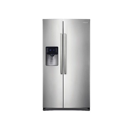 25 cu. ft. Side-by-Side Refrigerator with In-Door Ice Maker in Stainless Steel