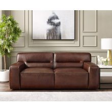 SU-AX6816-L  Leather Loveseat  Brown