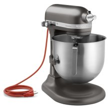 NSF Certified® Commercial Series 8-Qt Bowl Lift Stand Mixer - Dark Pewter