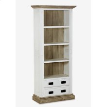 (LS) Chauncey Bookcase with Reclaimed Fir Accents (35x16x79)..