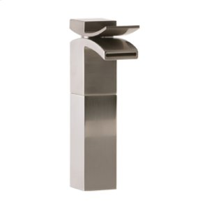 Vessel Lav Faucet High, Front Flow - Brushed Nickel Product Image