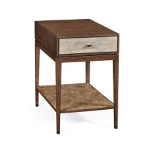 Square bedside table in Natural Walnut