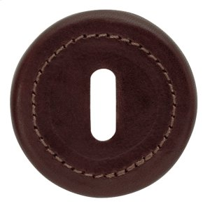 Saddlers Leather, Door hinge, Shrouded bearing with a Polished Stainless finish and a Black Leather grip Product Image