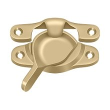 "Window Sash Lock, 1 1/8"" x 3"" - Brushed Brass"