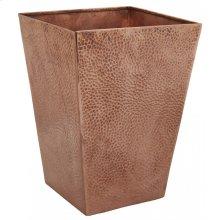 Hammered Rose Gold Wastebasket