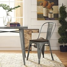 Promenade Bamboo Side Chair in GunMetal