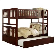 Full/Full Bunk Bed with Twin Trundle