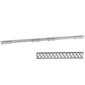 """Brushed Stainless - Slim 48"""" Channel Drain """"S"""" Grate Product Image"""