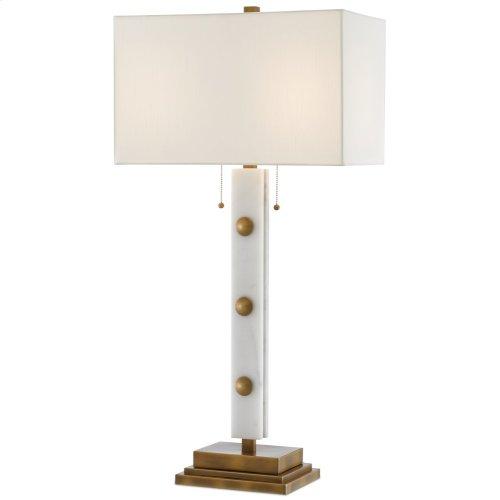 Khalil White Table Lamp