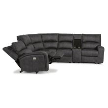 Rhapsody Power 6 Piece Reclining Sectional with Power Headrests *Available in Saddle Brown or Grey Microfiber*
