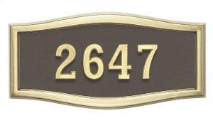 Large Roundtangle HouseMark ® Address Plaques Product Image