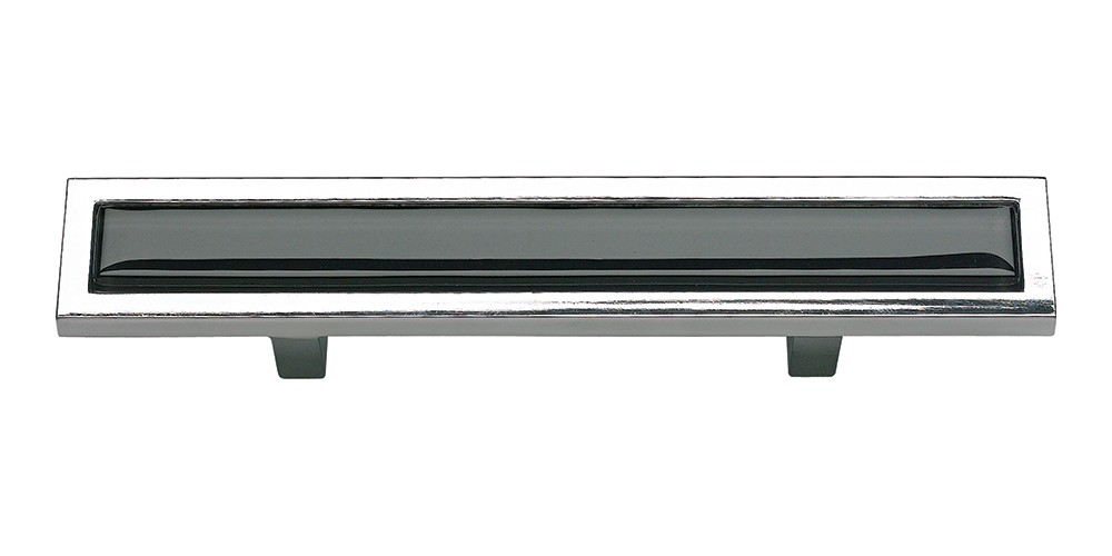 Spa Black Pull 3 Inch (c-c) - Polished Chrome