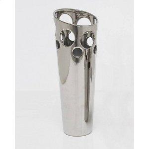 Ceramic Silver Vase 17H