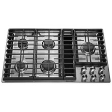 "36"" 5 Burner Gas Downdraft Cooktop - Stainless Steel"