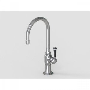 """Brushed Stainless - 7"""" Swivel Deck Mount Single Hole Bar Faucet Spout with Right Product Image"""