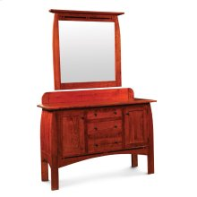 Aspen Sideboard with Inlay, Aspen Wall Mirror with Inlay, for Sideboard