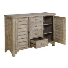 Server W/4 Drawers & 2 Doors-sandstone Finish