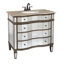 Vanity Cabinet with Porcelain Sink and Marble Top by Ultimate Accents