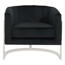 Tarra Accent Chair in Black & Chrome