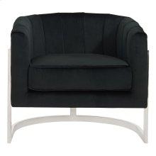 Tarra Accent Chair in Black & Chrome