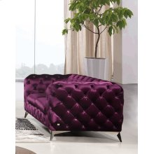 Divani Casa Delilah Modern Purple Fabric Loveseat