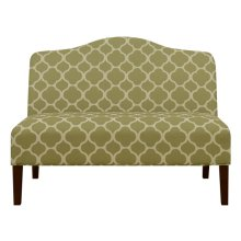 Uph Arched Back Bench - Lime Green Pttn