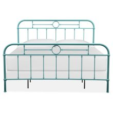 Complete King Metal Bed - Blue