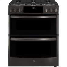 Slide-In Front Control Premium Black stainless steel appearance, 6.7 cu. Ft. Self-Cleaning Convection Gas Range, Wifi Connectivity