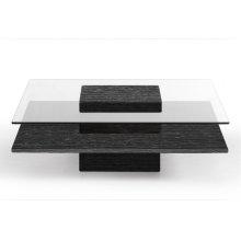 Modrest Clarion Modern Grey Elm & Glass Coffee Table