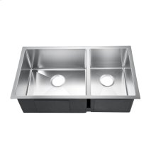 """Guilio Double Bowl Stainless Kitchen Sink - 32"""""""