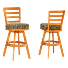 Ladder Back Bar & Counter Armless Swivel Stool