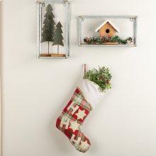 HO HO Holiday Stocking 11x15