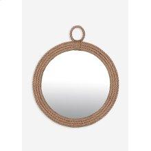 Aspen Round Mirror - Natural (30x1x30)
