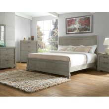 "Montana Side Rails for Queen Or King Bed, Grey, 81""x2""x8"""