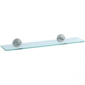 Highlands - Glass Shelf - Unlacquered Brass