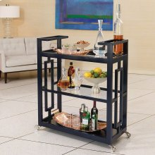 Grid Block Bar Cart-Ink