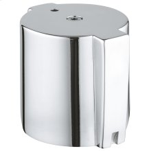 Temperature knob with metal end stop