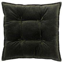 Talia Velvet Pillow, LODEN, 20X20