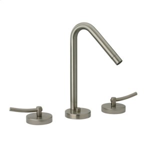 Metrohaus lavatory widespread faucet with 45-degree swivel spout, lever handles and pop-up waste. Product Image