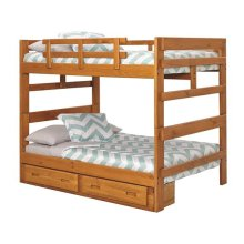 Heartland Full over Full Bunk Bed with options: Honey Pine, Full over Full, Twin Trundle