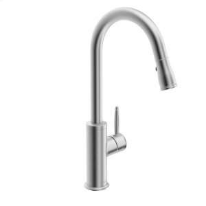 Classic Single-lever kitchen faucet with swivel spout; pull-down spray, stainless steel finish Product Image
