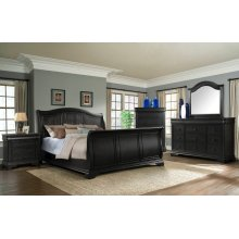 Cameron Charcoal Sleigh Bedroom