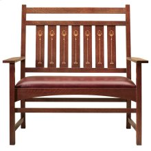 Oak Harvey Ellis Settee, With Inlay