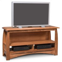 "Aspen Open TV Stand with Inlay, 60"" Product Image"