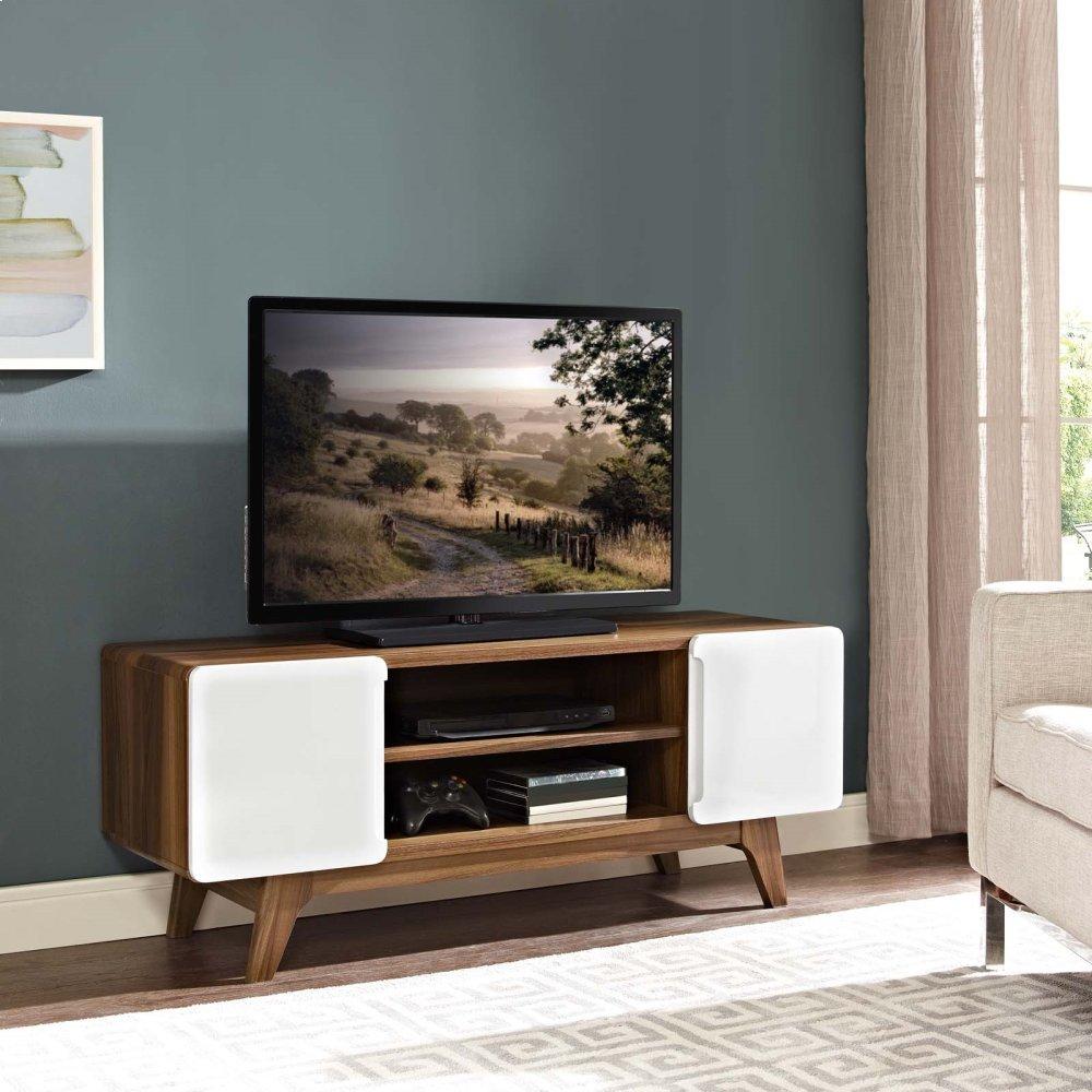 "Tread 47"" TV Stand in Walnut White"