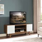 """Tread 47"""" TV Stand in Walnut White Product Image"""