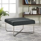 Reach Upholstered Fabric Ottoman in Gray Product Image